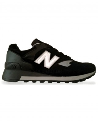 New Balance 577 - Black with White Logo